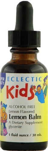 Kids Lemon Balm - Lemon Flavor No Alcohol Glycerite Eclectic Institute 1 oz Liquid