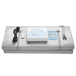 InLoveArts 2 Zone Digital Far-Infrared (FIR) Oxford Sauna Blanket,Weight Loss Body Shaper Professional Detox Therapy Anti Ageing Beauty Body-Care Machine