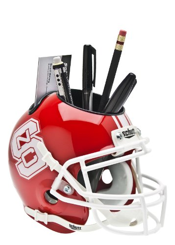 NCAA North Carolina State Wolfpack Helmet Desk Caddy, Scarlet (Wolfpack State Desk)