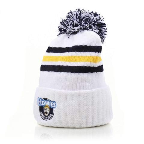 Howies Hockey Tape Blizzard Bucket Winter Beanie (White)