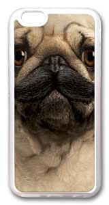 Big Face Pugstache Custom For Iphone 6Plus 5.5Inch Case Cover Hard shell Transparent