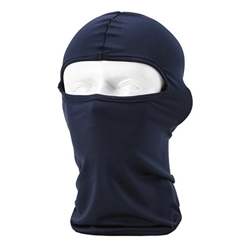Maoko Motorcycle Outdoor Sports Hood Full Balaclava Windproof- Airsoft Riding Face Mask Hat Royalblue