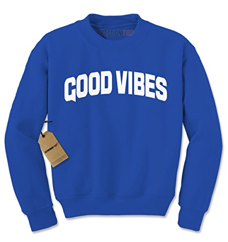 Expression Tees Crew Good Vibes Adult Small Royal (Good Vibes Hoodie)
