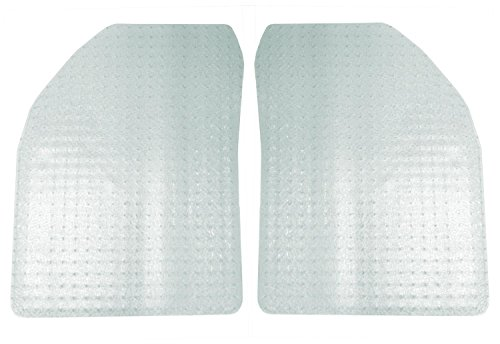 Coverking Front Custom Fit Floor Mats for Select Galaxie 500 Models - Nibbed Vinyl (Clear)