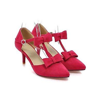 bellr V Stiletto–Piel sintética–Mujeres Punta Dedos–Sandalias/Pumps/High Heels (Negro/Rosa/Lila/Rojo), morado, US8 / EU39 / UK6 / CN39 morado