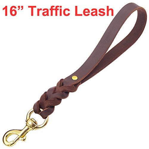 (Fairwin Leather Short Dog Leash 16