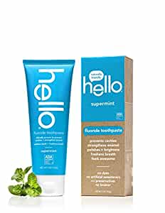 Hello Oral Care Fluoride Toothpaste, Supermint, 5 Ounce