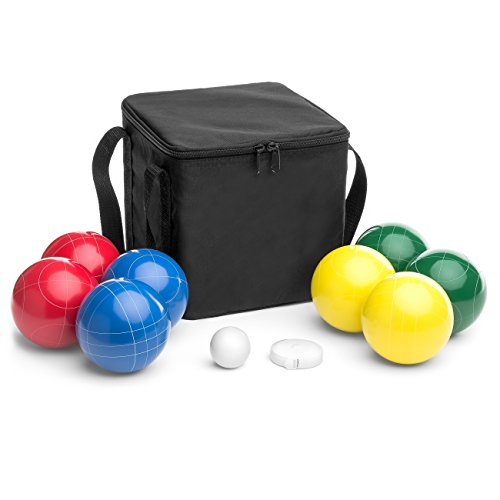 Best Choice Products Bocce Set w/8 Balls, Pallino, Carrying Case, Measuring Rope by Best Choice Products