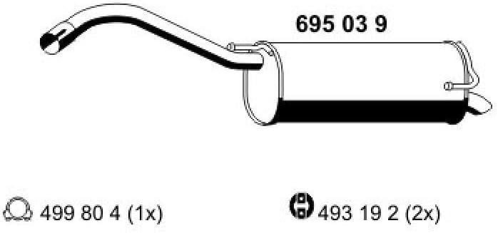 ERNST 695039 Endschalld/ämpfer