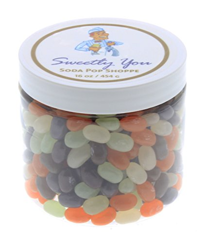 Jelly Belly 1 LB (One Pound, 1 Pound) Bulk Jelly Beans in a resealable and reusable jar. Soda Pop Shoppe Flavored Assorted Beans. (Gourmet Jelly Bean Jar)