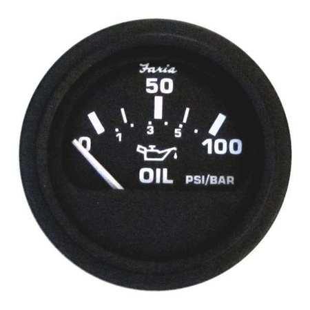 - Faria GP0801 Engine Oil Pressure Gauge,Blk Trim,2in.D G2389908