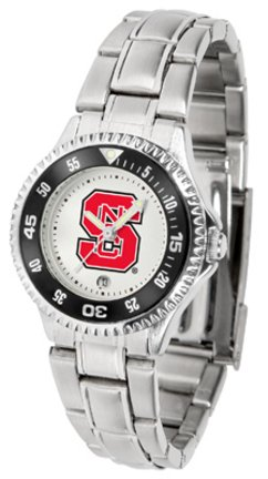 SunTime North Carolina State Wolfpack Competitor Ladies Watch with Steel Band