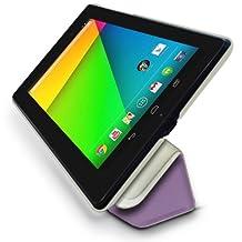 Google Nexus 7 2 (2013) Multi-Angle Slim 'Frameless' Case with Auto Sleep Wake Sensor by LuvTab® (Purple)