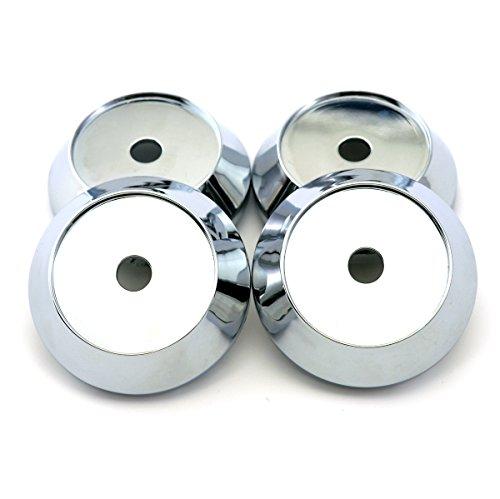 65mm Chrome Silver ABS Wheel Center Hub Caps Base Set of 4 (Work Emotion Rims)