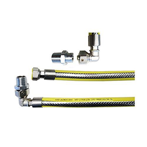 Tubo flexible para gas acero inoxidable revestido con corrugado amarilla 1//2/x 1,5/Mt