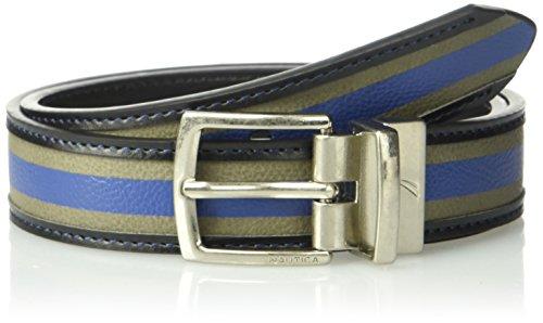 [해외]Nautica Boys` Big 1 Wide Varsity Wool Reversible Black Belt / Nautica Boys` Big 1 Wide Varsity Wool Reversible Black Belt, GreyBlue, 28