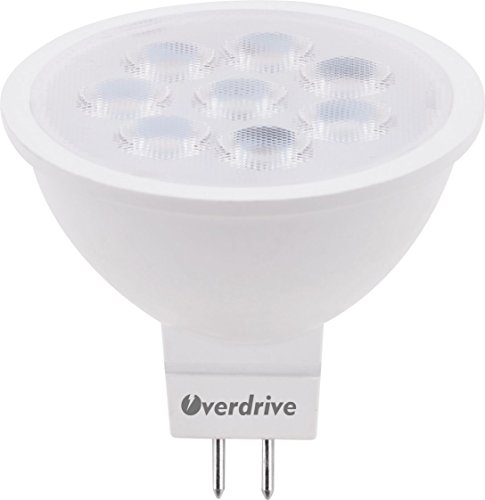 Overdrive 644 (12-Pack) 50 -Watts Equivalent Halogen MR16, LED MR16 Lamp, 12V AC/DC, GU5.3, Warm White, Dimmable - 12v Ac Mr16 Lamp
