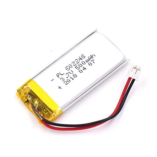 (3.7V 500mAh 502248 Lipo battery Rechargeable Lithium Polymer ion Battery Pack with JST Connector)