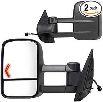 New Set of 2 Left and Right Side Towing Mirror For Chevrolet Tahoe 2007-2014