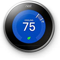 Nest 3rd Generation Learning Thermostat (Stainless Steel)