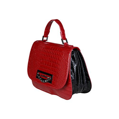 Biagiotti Handbag Red Rrp Designer Laura Genuine Women OdqBB