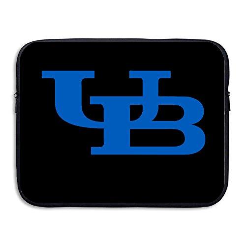KathyB University At Buffalo Interlocking Laptop Shoulder Bag Black