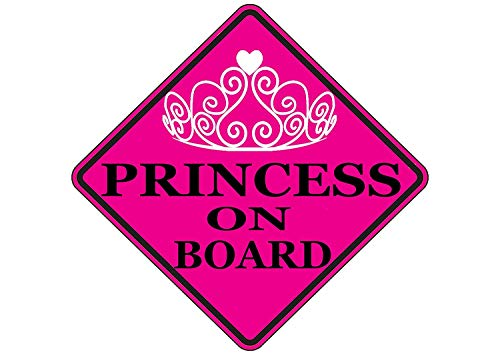 Rogue River Tactical Pink Princess On Board Sticker Car Window Decal Bumper for Girl Daughter Vehicle Safety Sticker Sign for Car Truck SUV (1)