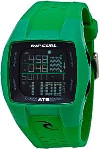 Rip Curl Trestles A1015 - Reloj de caballero de cuarzo, correa de caucho color verde