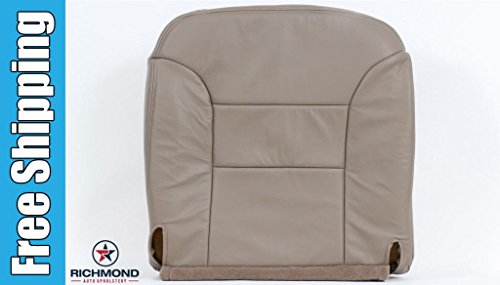 2000 GMC Sierra (Classic) 2500 Crew-Cab Long-Bed Short-Bed SLT SLE -Driver Side Bottom Replacement Leather Seat Cover, Tan (4wd Bed Short Cab Quad)