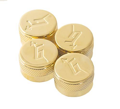 4 Gretsch Knobs For 6mm Shafts Import Guitars-Gold