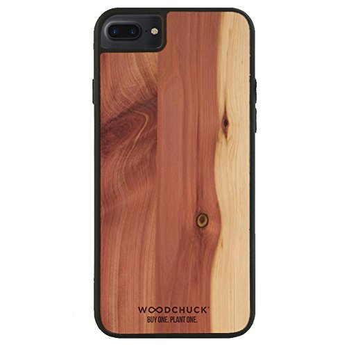 WOODCHUCK Cedar Wood iPhone Plus Case (8/7/6s/6) - Premium Handmade Cover