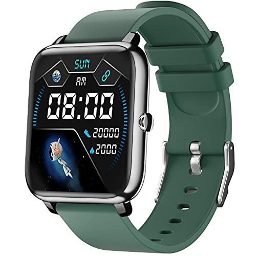 Smart Watch, 1,4-inch smartwatch met touchscreen, fitnesstracker met hartslagmeter, slaapmonitor, Bluetooth-camera…