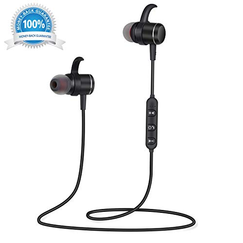 Wireless Earbuds Bluetooth Headphones with Microphone in-Ear Bluetooth Earbuds with Mic Magnetic Ear Buds Wireless Headphones Sweatproof Earphones Snug Fit Sports Running Gym Workout Noise Cancelling
