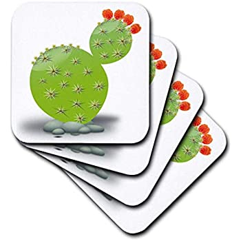 3dRose CST/_18455/_1 Thoroughbred Horse Soft Coasters Set of 4