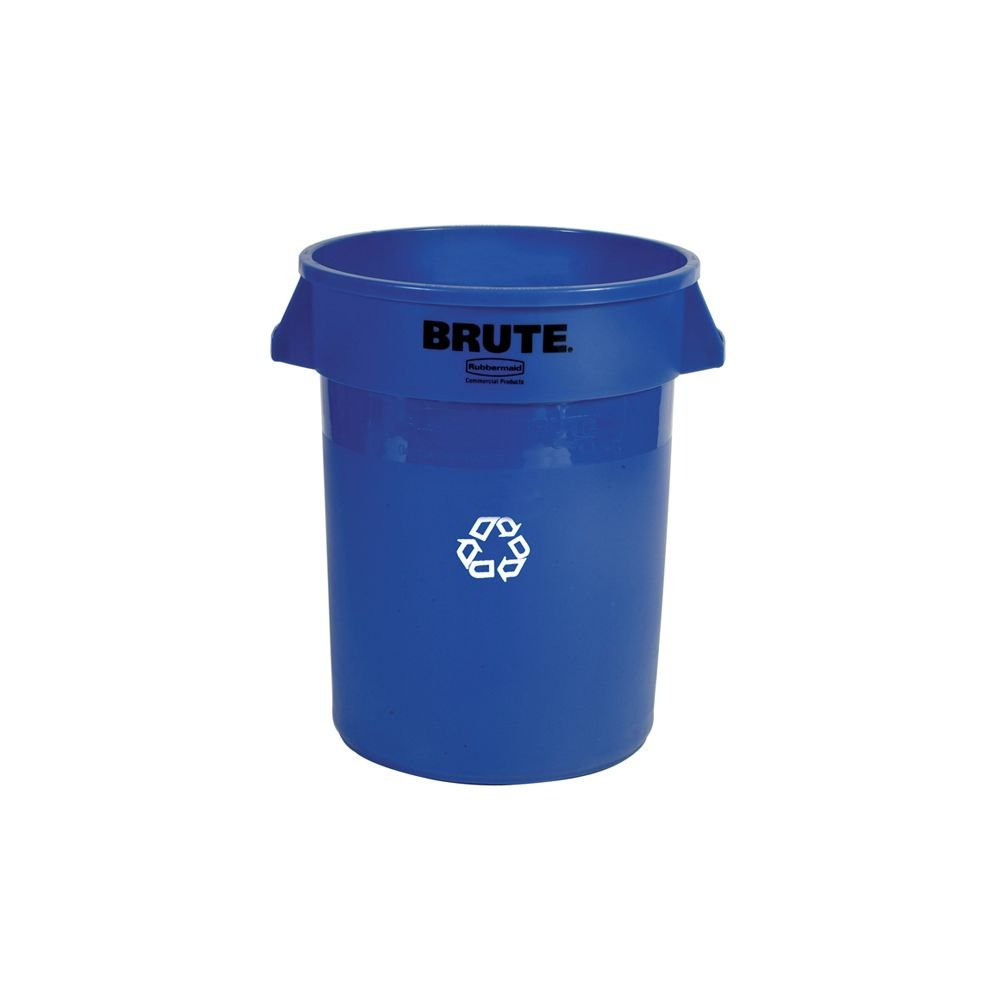 Rubbermaid Commercial FG262073BLUE Brute Plastic Recycling Container without Lid, 20-gallon, Blue