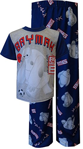 Disney Little Boys' Big Hero 6 Go Baymax 2 Piece Pajama Set, Multi, 6 (Disney Movie Big Hero 6)