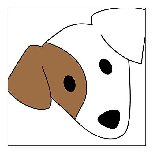 Jack Russell Rescue, Adoption & Sanctuary - Square Car Magnet, Magnetic Bumper Sticker ()