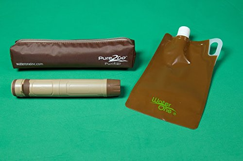 Pure2Go Portable Water Purifier Traveler Kits - 2 Pack, Kills Virus &Bacteria. Far Superior to Filter or Straws.