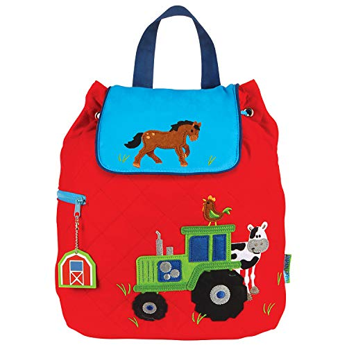 Stephen Joseph Quilted Backpack, Boy Farm