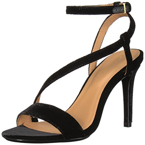 Calvin Klein Women's NYSSA Heeled Sandal, Black, 9.5 Medium US