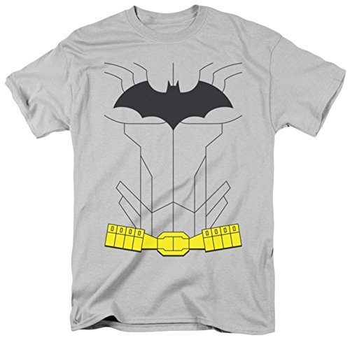 Batman Men's New Batman Costume Classic T-shirt XX-Large Silver