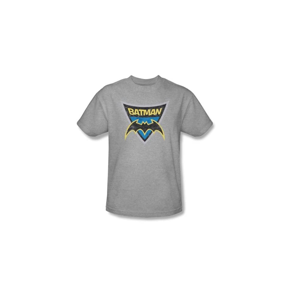Batman Kids T Shirts   Batman Shield Youth Athletic Heather Tee, Toddler (5/6)