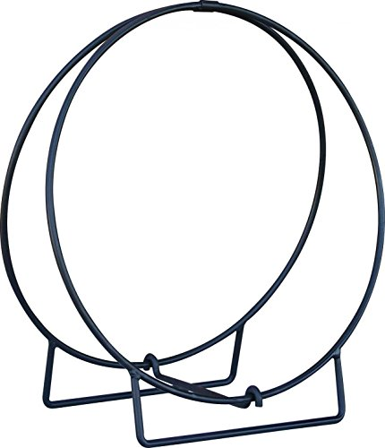 "Uniflame Log Hoop with 1/2"" Solid Stock, Black"