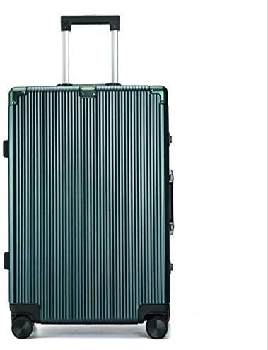 Color : Green, Size : 29 Tjtz PC Aluminum Frame 25 inch Trolley case Business Travel Retro Suitcase