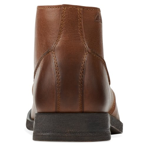 Clarks Hombres Goby Hi Brown Leather 8 M Us