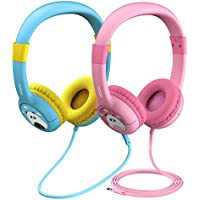 Mpow (2-Pack) Kids Headphones, Wired On-Ear Headphones with Music Sharing Function, 85dB Volume Limited Hearing Protection, Safe Food Grade Material, 3.5mm Audio Jack Headset for Children