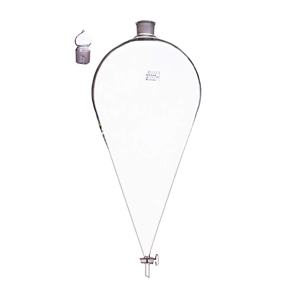 20000ml / 20L Conical Separatory Funnel with Glass Stopcork Borosilicate Glass