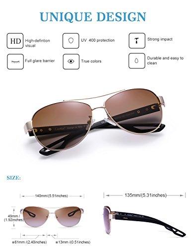 gafas de UV Hombre 400 el de sol B polarizado Aviador Protección Carfia caso con conducción Mujeres w7ExtnqBR