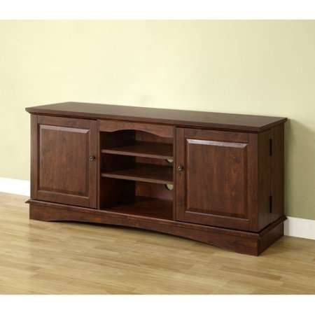 Durable Television Stand Entertainment Center Made of MDF, Laminate and Wood Multiple Rich Textured Finishes Holds TVs up to 65