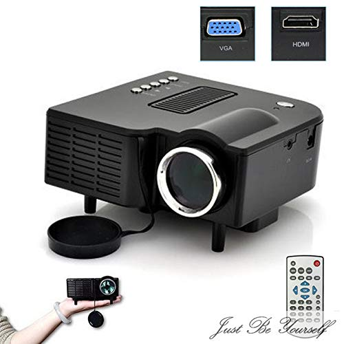 Kariwell HD 1080P Multimedia LED Projector,DLP Rechargeable Pico Projector - 80